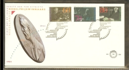 1991 - Netherlands FDC E286 Blanco - Dutch Nobelprize Winners [R00639] - FDC