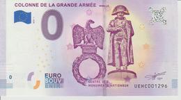 Billet Touristique 0 Euro Souvenir France 62 Wimille - Colonne De La Grande Armée 2018-1 N°UEHC001296 - Private Proofs / Unofficial