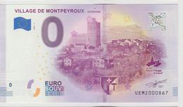 Billet Touristique 0 Euro Souvenir France 63 Village De Montpeyroux - Auvergne 2018-1 N°UEMZ000867 - EURO