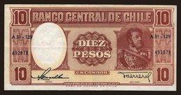 10 Pesos, 1958 - Chile