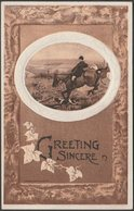Greeting Sincere, The Chase, Fox Hunting, 1909 - Salke Embossed Postcard - Other