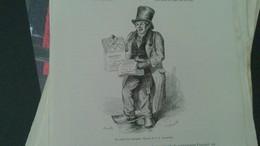Affiche (dessin) - Le Crieur De Journaux (dessin De JJ Grandville) - Affiches