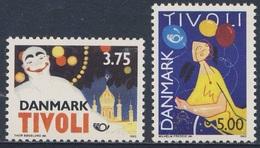 Danmark Denmark Dänemark 1993 Mi 1054 /5 ** Posters / Plakat - 150th Ann. Tivoli / Vergnügungspark Tivoli, Kopenhagen - Vakantie & Toerisme