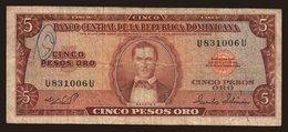 5 Pesos, 1975 - Dominicana