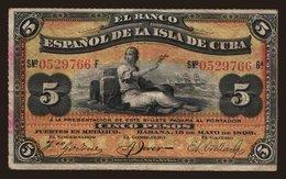 5 Pesos, 1896 - Cuba