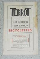 TARIF BICYCLETTES TERROT à Dijon, Février 1940. 40 Pages. Format 22 X 15 Cm - Advertising