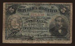 5 Centavos, 1891 - Argentina