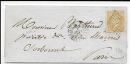 1858 - CITRON - LETTRE De PARIS => PARIS - 1853-1860 Napoléon III
