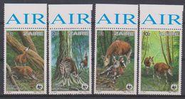 Zaire 1984 Okapi / WWF 4v  ** Mnh (39360) - 1980-89: Ongebruikt