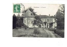 Cpa - 16 - CONFOLENS, Le Garraud - 1908 - Tour - Animation Jardinier Râteau Servante En Tablier - Imp Dupont - Confolens