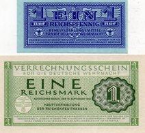 ALLEMAGNE : Lot De 2 Billets Werhmarcht (unc) - Colecciones