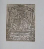 Ex-libris Armorié Français XVIIIème - Abbaye D'Etival - Charles-Louis Hugo, Abbé D'Etival, Evêque De Ptolémaïde - Ex Libris
