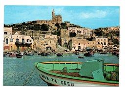 Retro Malta Gozo Mgarr Harbour (55-6) - Malta