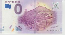 Billet Touristique 0 Euro Souvenir France 63 Le Puy-De-Dôme 2018-3 N°UEBP003626 - EURO