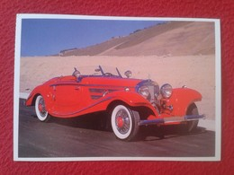 POSTAL POST CARD CARTE POSTALE COCHE DE LUJO CAR CARS COCHES AUTO AUTOMÓVIL MERCEDES BENZ 540K 1937 VER FOTO/S Y DESCRIP - Other