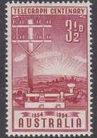 Australia ASC 306 1954 Centenary First Telegraph Line, Mint Never Hinged - Mint Stamps