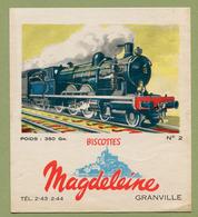 """BISCOTTES  """" MAGDELEINE """" N° 2  LOCOMOTIVE - Biscottes"""