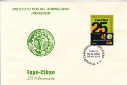 25 ANIVERSARIO EXPO CIBAO. INSTITUTO POSTAL DOMINICANO INPOSDOM. OBLIT SANTIAGO RD 2012- BLEUP - Dominicaanse Republiek