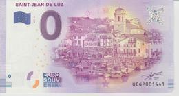 Billet Touristique 0 Euro Souvenir France 64 Saint-Jean-De-Luz 2017-2 N°UEGP001441 - EURO