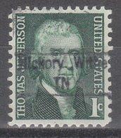 USA Precancel Vorausentwertung Preo, Locals Tennessee, Hickory Withe 843 - Vereinigte Staaten