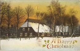 CPA En Relief -  Royaume-Uni 1909 - Noël - Cachet De Rolvenden - UK à Paris - Lettres & Documents