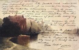 CPA Royaume-Uni 1907 - Peinture, By The River - De Londres à Paris- Cachet De Réception Paris - Lettres & Documents