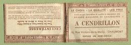 """"""" L'ECOLE UNIVERSELLE """" + """" A. CENDRILLON à CHAUMONT """"  Carnet Vide - Carnets"""