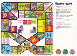 L'une Des 9 Versions Du Jeu Publicitaire Bonne Route ! édité Par La Société Evian, Années1980 - Publicité