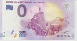 Billet Touristique 0 Euro Souvenir France 74 Chamomix-Mont-Blanc 2018-2 N°UEEZ011296 - EURO