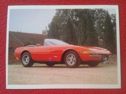 POSTAL POST CARD CARTE POSTALE COCHE DE LUJO CAR CARS COCHES AUTO AUTOMÓVIL FERRARI 365GTB/4 DAYTONA SPIDER 1972 ITALIA - Other