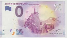 Billet Touristique 0 Euro Souvenir France 74 Chamomix-Mont-Blanc 2018-2 N°UEEZ011297 - EURO