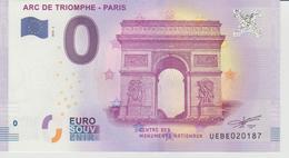Billet Touristique 0 Euro Souvenir France 75 Arc De Triomphe - Paris 2018-2 N°UEBE020187 - EURO