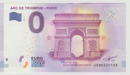 Billet Touristique 0 Euro Souvenir France 75 Arc De Triomphe - Paris 2018-2 N°UEBE020188 - EURO