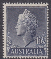 Australia ASC 315 1955  Queen Elizabeth II Definitives, 1Sh 05d Blue, Mint Never Hinged - 1952-65 Elizabeth II : Pre-Decimals
