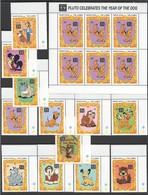 J895 GAMBIA DISNEY DOGS 1SET+1KB MNH - Disney