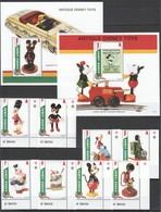 J896 SIERRA LEON ANTIQUE DISNEY TOYS MICKEY MOUSE & FRIENDS !!! 2BL+1SET MNH - Disney