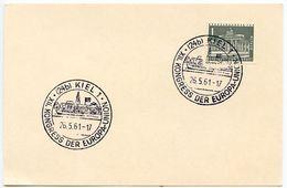 Germany-Berlin 1961 Commemorative Card Kiel XII Kongress Der Europa-Union - Covers