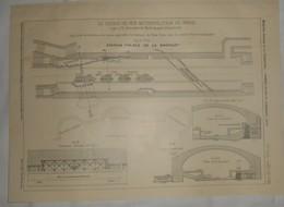 Plan Du Chemin De Fer Métropolitain De Paris. Ligne N°5. De La Gare Du Nord Au Pont D'Austerlitz. 1909 - Travaux Publics