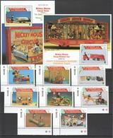 J906 ST.VINCENT ANTIQUE DISNEY TOYS MICKEY MOUSE CIRCUS TRAINS !!! 2BL+1SET MNH - Disney