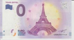 Billet Touristique 0 Euro Souvenir France 75 Tour Eiffel 2018-4 N°UEBU001144 - EURO