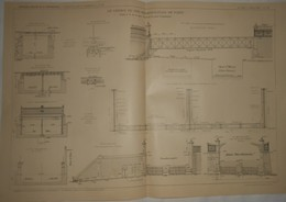 Plan Du Chemin De Fer Métropolitain De Paris. Ligne N°5. De La Gare Du Nord Au Pont D'Austerlitz. 1909 - Public Works