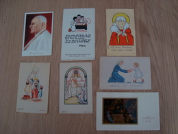 LOT DE 7 IMAGES RELIGIEUSES - Devotion Images