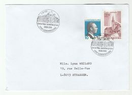 1999 Luxembourg CENTRAL RAILWAY STATION 1939-1999  EVENT COVER Stamps Train - Covers & Documents