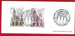 2003 - Gravure En Taille Douce De L'Imprimerie Des Timbres-poste - Eglise De Saint-Père (Yonne) Tp N°3586 + Obl 1er Jour - Documents De La Poste