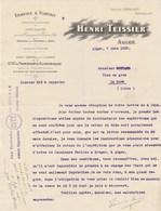 Algérie - Alger - Henri Teissier - Transports - 1912 - Factures & Documents Commerciaux