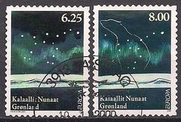 DK - Grönland / Greenland (2009)  Mi.Nr.  527 + 528  Gest. / Used Self-ad. From Booklet (3ba02)  EUROPA - Europa-CEPT