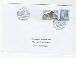 1999 Luxembourg CENTRAL RAILWAY STATION 1939-1999  EVENT COVER Stamps Siege Social Arbed , Train - Covers & Documents