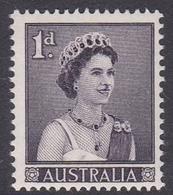 Australia ASC 341 1959 Queen Elizabeth II Definitives 1d Purple, Mint Never Hinged - Mint Stamps