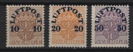 Sweden (1920)  Yv. Av. 1/3  /  MH - Airmail - Poste Aerienne - Correo Aereo - Suède