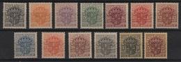 Sweden (1910/19)  Yv. Sv. 19/31  /  Crown Watermark !!  -  MNH - Zweden